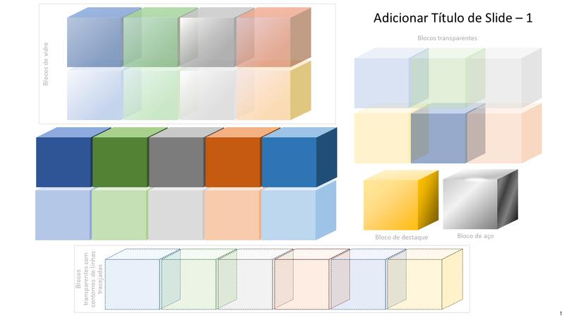Elementos gráficos de blocos coloridos