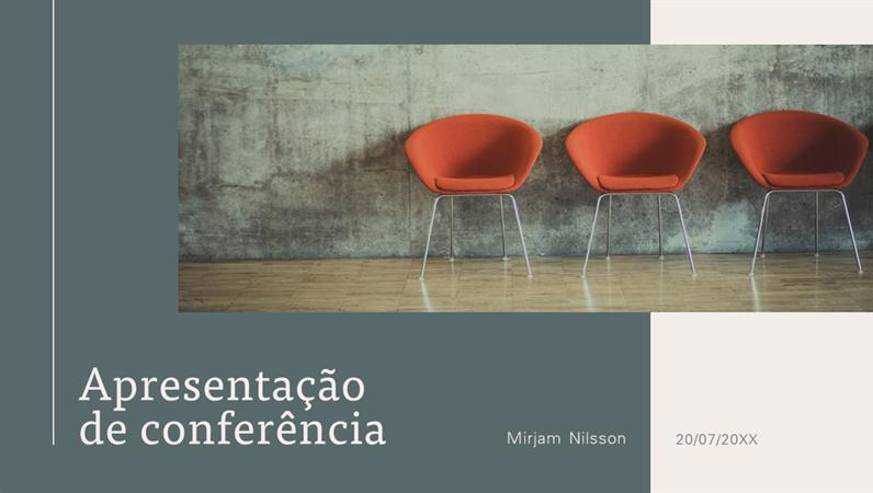 Apresentação de conferência moderna