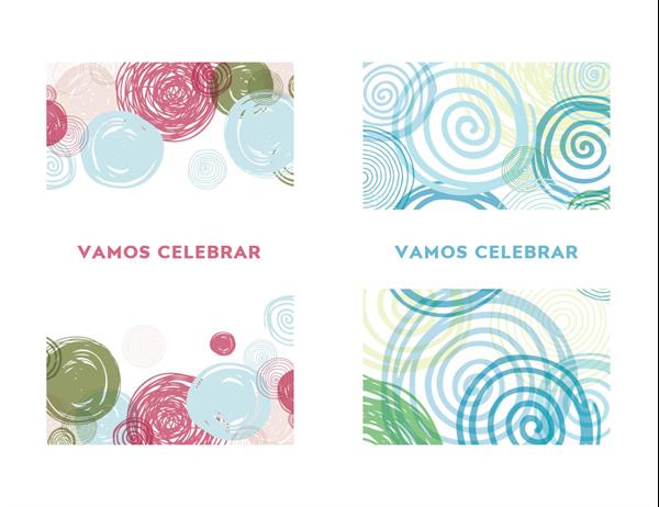 Cartão de comemoração com convite