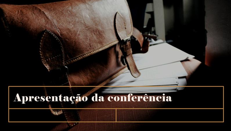 Apresentação de conferência clássica