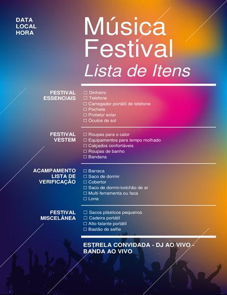 Lista do que levar para o festival de música