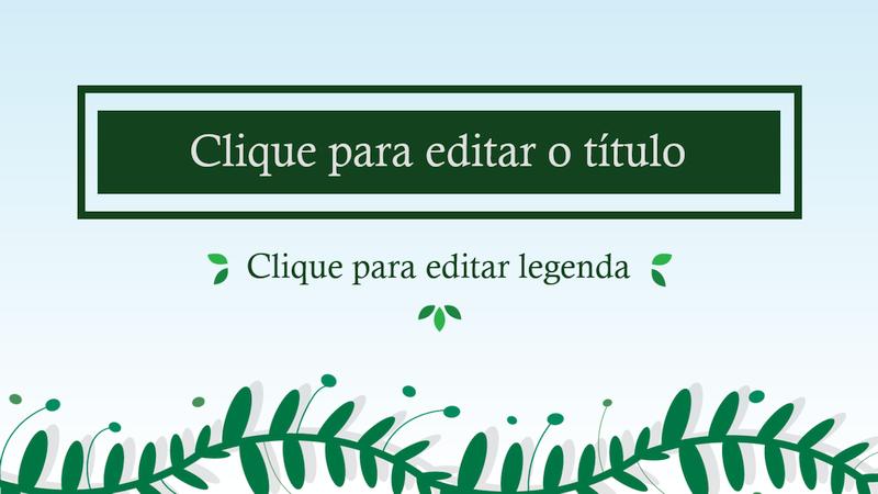 Apresentação de slide com Tema de Natureza