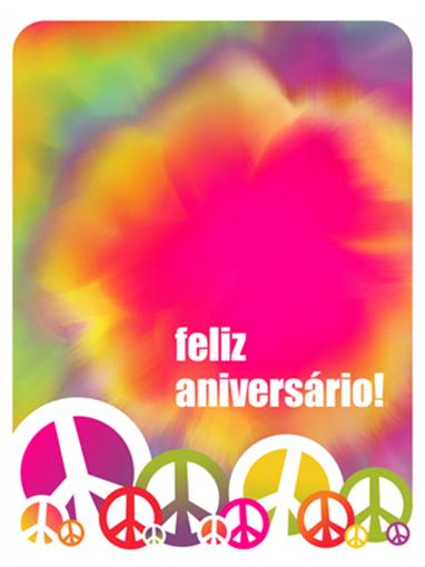 Cartão de aniversário (padrão tie dye)