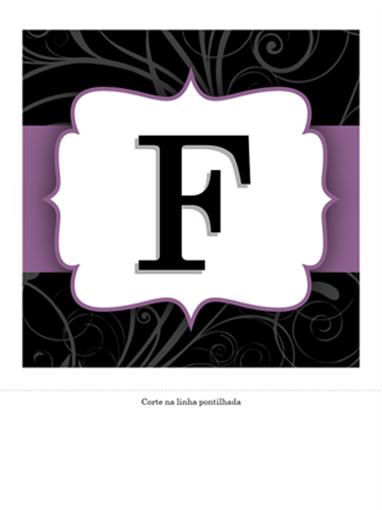 Faixa de aniversário (design Fita Roxa)
