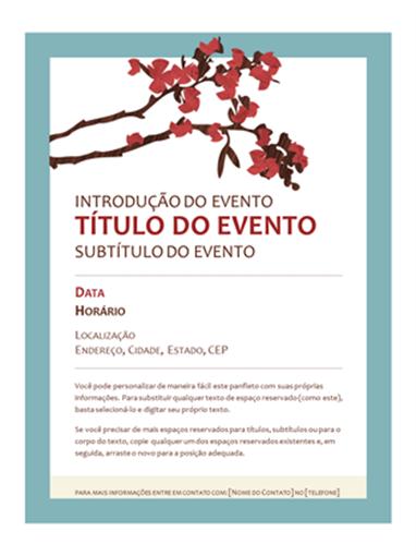 Panfleto de Primavera (design de ramo em floração)
