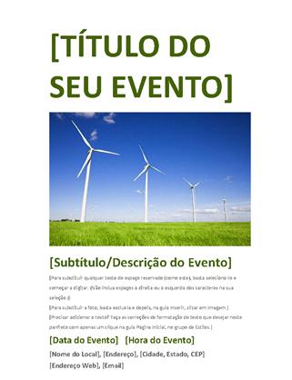 Panfleto do evento (verde)