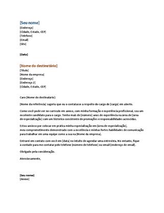 Carta de apresentação de currículo funcional (combina com currículo funcional)