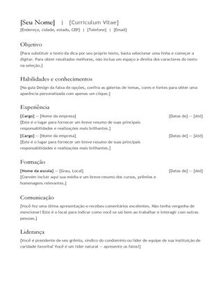 Curriculim vitae (currículo)