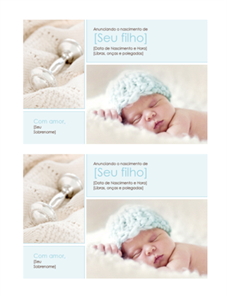 Anúncio de nascimento de menino