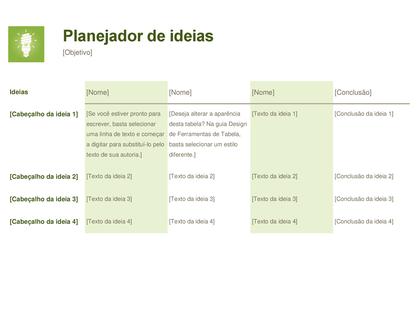 Planejador de ideias