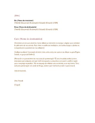 Carta comercial formal