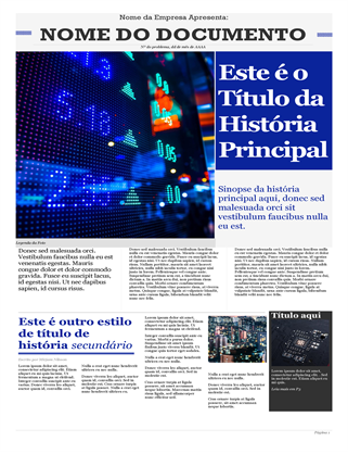 Jornal moderno