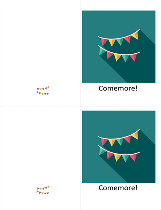 Cartão de comemoração com bandeirinhas