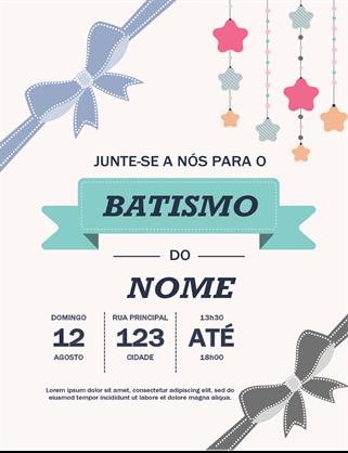 Folheto de batismo