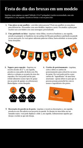 Imprimíveis para festa de Halloween