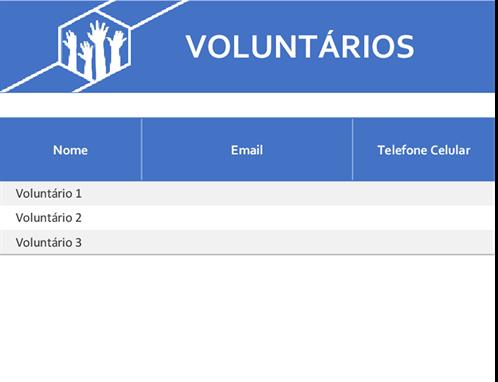 Atribuições a voluntários