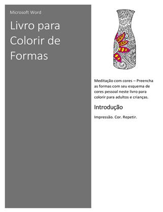Livro para colorir de formas