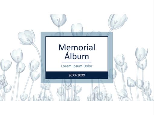Álbum floral de memorial