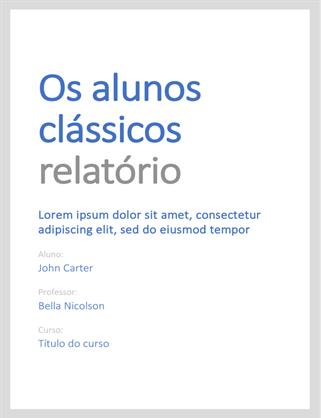 Relatório clássico estudantil