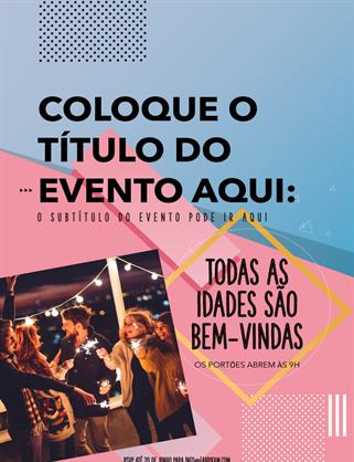 Panfleto compacto de evento com imagem