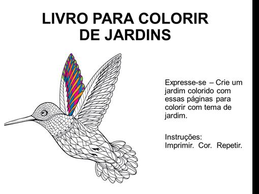 Livro para colorir de jardins