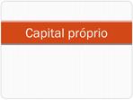 Capital próprio