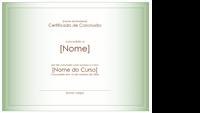 Certificado de conclusão do curso
