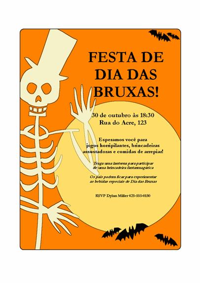 Panfleto de festa de Dia das Bruxas
