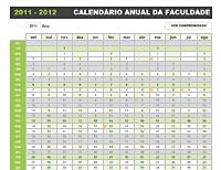 Planejador anual da faculdade
