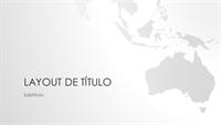 Série de mapas do mundo, apresentação da Oceania (widescreen)