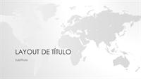 Série de mapas do mundo, apresentação do mundo (widescreen)