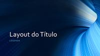 Apresentação profissional com túnel azul digital (widescreen)
