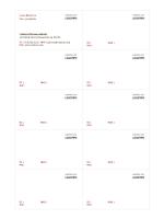 Cartões de visita, layout horizontal com logotipo, texto alinhado à esquerda