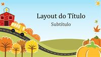 Apresentação divertida com temática de outono (widescreen)