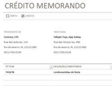 Aviso de crédito/débito
