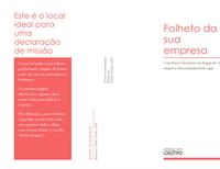 Folheto empresarial