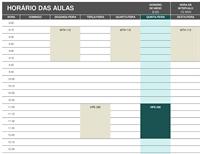 Cronograma do aluno