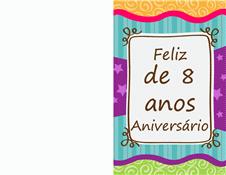 Cartão de aniversário - estrelas e listras (crianças)