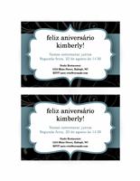 Convite para festa (design com fita azul)