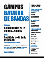 Panfleto do estudante (design em preto e azul)