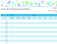 Lista de verificação da babá