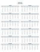 Calendário de um ano