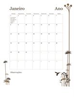Calendário de 12 meses de 2017 (domingo – sábado)