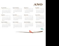 Calendário anual de 2017 (domingo – sábado)