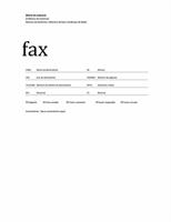 Folha de rosto de fax (tema Profissional)