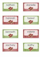 Cartões de lugar de fim de ano (para Avery 8371, 8376, 8377, 8811)