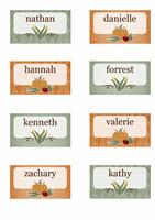 Cartões de lugar (design Colheita)