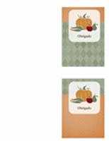 Cartão de agradecimento (design colheita)