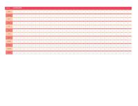 Calendário perpétuo (horizontal)