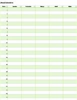 Calendário perpétuo de qualquer ano (vertical)